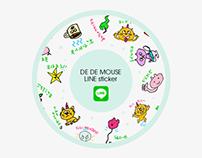 DE DE MOUSE LINE sticker