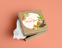 Maria - Floral Box Subscription Design