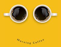 Morning Coffee Creative Poster Design