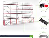 Simulación 3D de andamio y oferta comercial