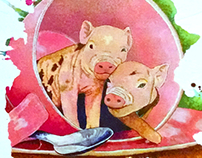 Commission - Tea Cup Pigs