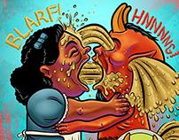 Garbage Pail Kids- Eat, Pray, Barf.