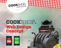 CookShop Parallax Web Design