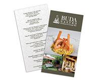 Folleto para la parte del restaurante del Buda