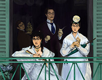Me in The Balcony, by Edouard Manet