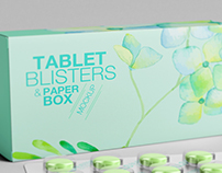 Tablet Blisters/ Paper Box Mockup