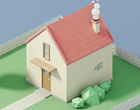 Low Poly House (Blender)