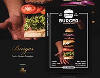 Free Burger Poster Design Template
