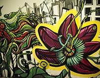 "Mural videoclip ""CORPORACIONES"""
