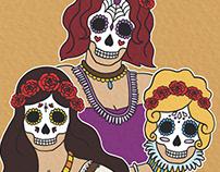 Las Catrinas: The Sugar Skull Sisters