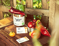 Organic Food Photo Mockup / Vegetables