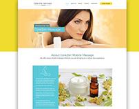 Website design for Corezen Massage