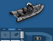 Zodiac Pro 3D configurator