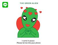 The Green Alien - LINE app stickers