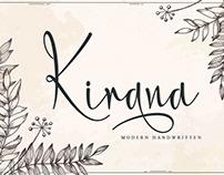 Free Kirana Handwriting Font