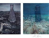 Storm (Valentino dress) watercolors 53xs63 sm 2018