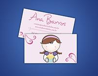 Cartão de Visitas  - Ana Barros
