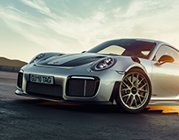 Porsche GT2 RS rendering project