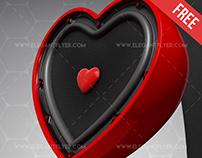 Musical Heart – Free 3d Render Templates