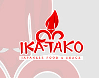 Ika-Tako Logo Food Japanese Street Snack