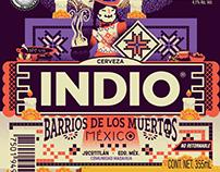 Cerveza Indio ✕ Barrios de los Muertos 2018