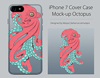 Iphone 7 Cover Case Mock-up Octopus