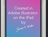 iPhone XS Max on Adobe Illustrator on iPad