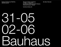 Bauhaus RADICAL poster
