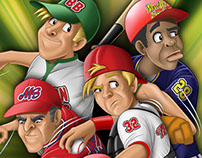 Character Design of Baseball Players for Trading Cards