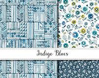 Indigo Blues Pattern Design