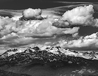 Canadian Rockies in B&W