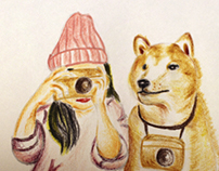 illustration- Dog & Girl
