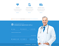Medical Care Website Mockup Design