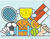 Mini Infografis Hari Olahraga Nasional