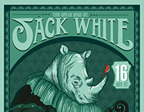 Jack White and Robert Plant Gig Poster Chile
