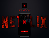 Netflix inspiration Redesign apps iOS | black and red
