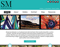 Website Mock up (Desktop and Mobile): Showcase Mosaics