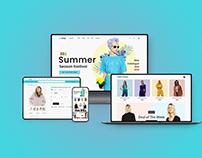UXshop Fashion e-commerce website