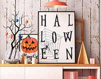 Halloween Poster Mockup Design
