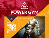 Power Gym Website Design Landing Page