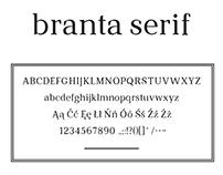 branta serif font