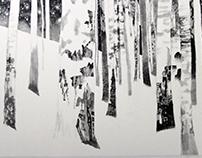 ART WORKS sumie 墨絵 black ink