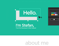One Page Flat Design - Personal Website