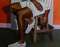 Jubilee in Artist Studio Self Portrait: 2017 The Future