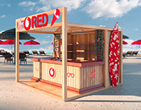 Vodafone Red Summer Booth 2019