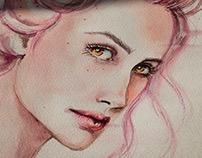 Watercolor portraits 2015. Feelings.