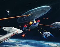 "Star Trek Timelines ""Ship Battle"" Key Art"