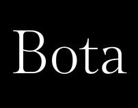 Bota Custom typeface
