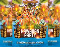 Hawaiian Party - Premium A5 Flyer Template