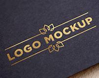 Gold Logo Mockup - Dwonload